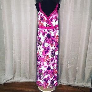 CATO FLORAL MAXI PLUS SIZE STRETCHY SUNDRESS